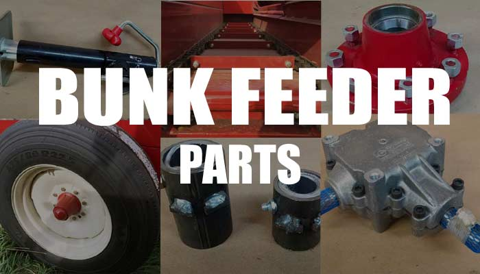 Parts for bunk feeder wagons