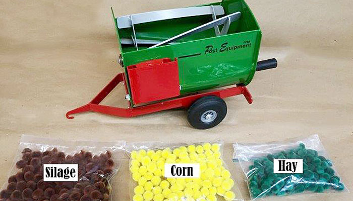 Toy feed mixers for sale at Post Equipment. Hitch pins for sale - high quality