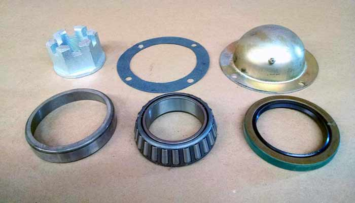 Wheels, bearings, spindles for vertical feed mixers